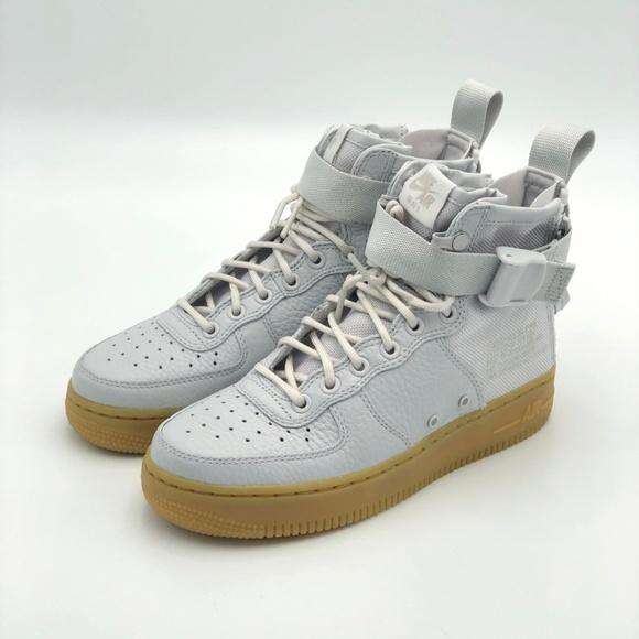 big sale cc9fa d70a4 Nike SF AF1 Mid Vast Grey W6 AA3966-005 sf1 NWT